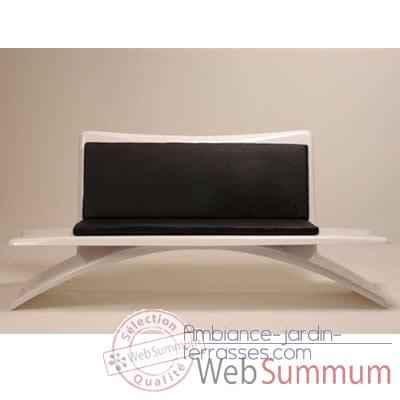 banc design vagance blanc matelas gris am24 dans banc salon de jardin jardin. Black Bedroom Furniture Sets. Home Design Ideas