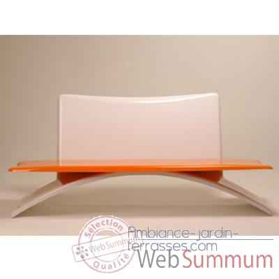 Banc design Vagance gris, orange Art Mely - AM21