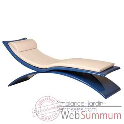 Video Chaise longue design Vagance bleue matelas blanc Art Mely - AM07