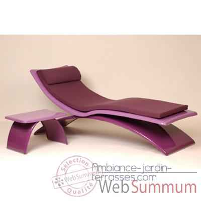 Video Chaise longue design Vagance violette matelas lilas Art Mely - AM02