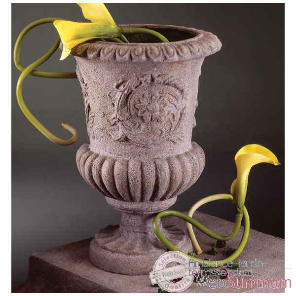 Vases-Modele Victorian Urn, surface pierre romaine-bs2101ros