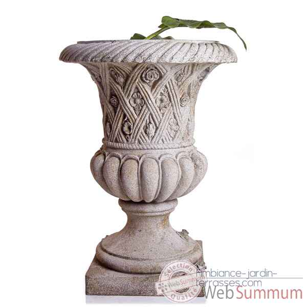 Vases-Modele Spring Urn,  surface granite-bs2131gry
