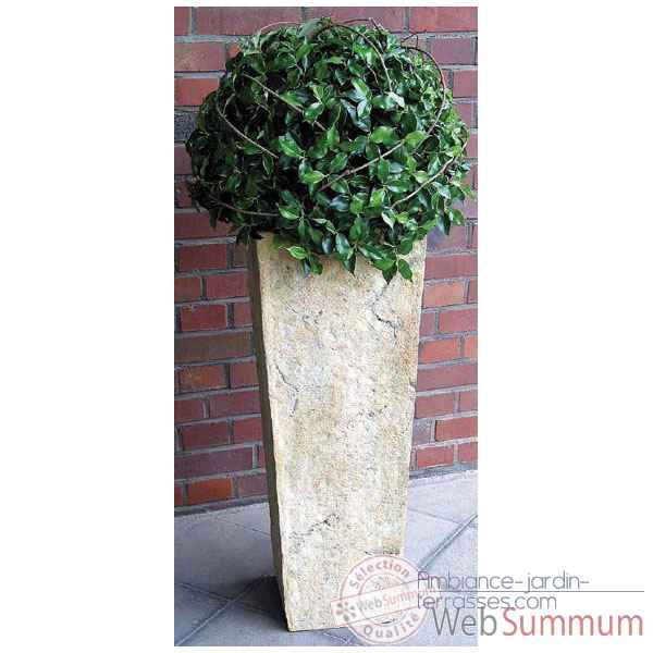 Vases-Modele Quarry Pedestal Planter, surface aluminium-bs2133alu