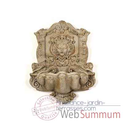 Fontaine-Modele Wind God Wall Fountain, surface marbre vieilli-bs2197ww