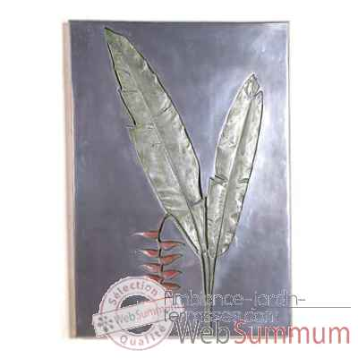 Decoration murale-Modele Hanging Heliconia Negative Wall Plaque, surface aluminium-bs2307alu