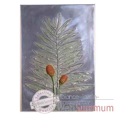 Decoration murale-Modele Torch Ginger Positive Wall Plaque, surface aluminium-bs2308alu