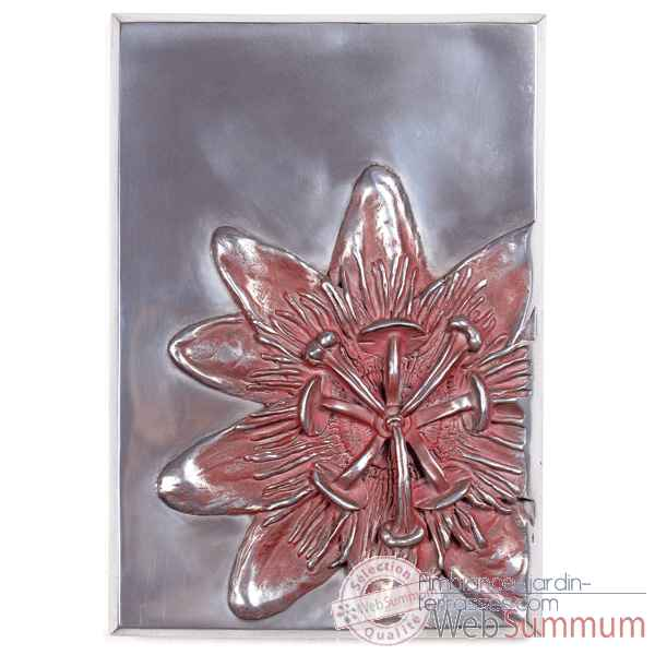 Decoration murale-Modele Passiflora Wall Plaque, surface aluminium-bs2394alu