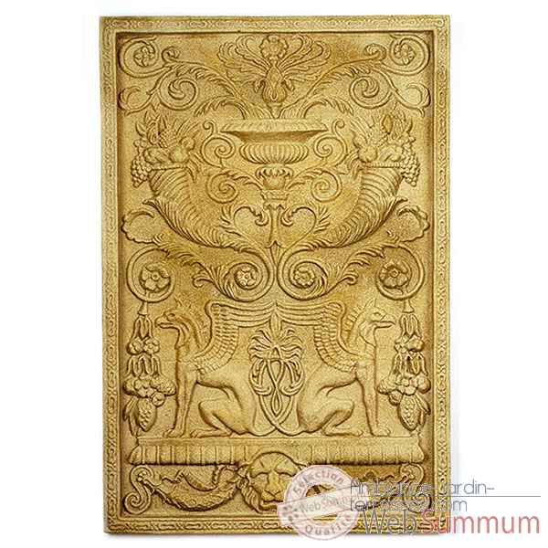 Decoration murale-Modele Wall Decor-Griffin Motif, surface marbre vieilli-bs2602ww