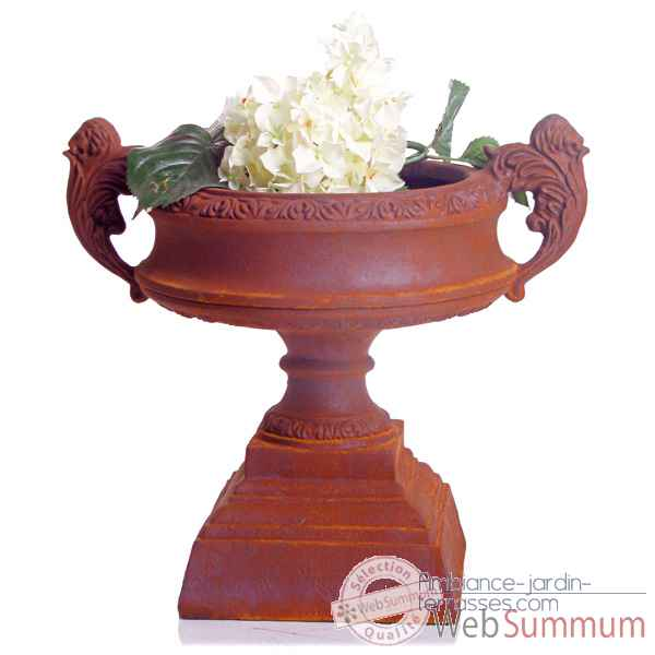 Vases-Modele French Planter, surface marbre vieilli-bs3027ww