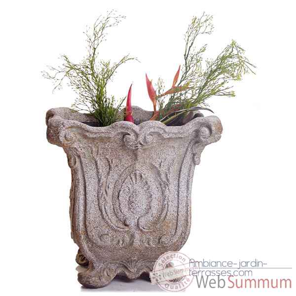 Vases-Modele Hereford Planter, surface pierre romaine-bs3036ros