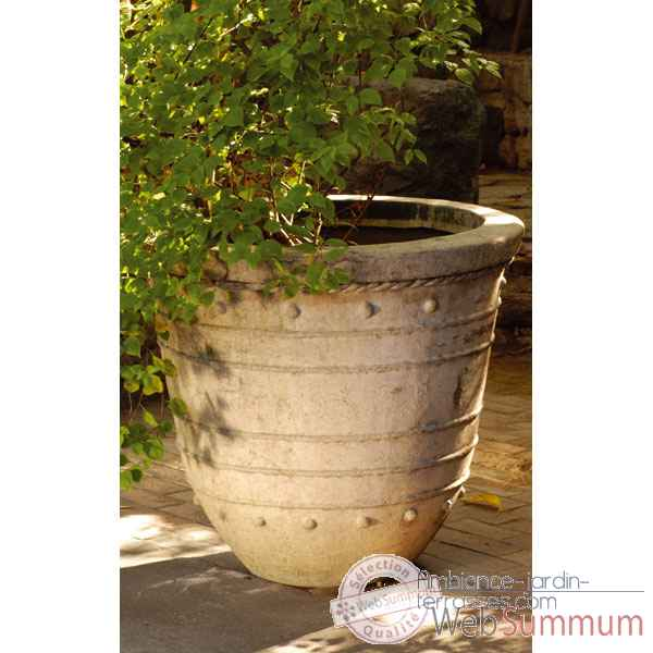 Vases-Modele Bali Planter Giant, surface marbre vieilli-bs3043ww