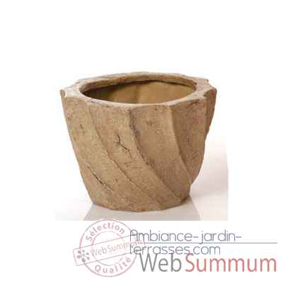 Vases-Modele Aegean Planter - Small,  surface granite-bs3099gry