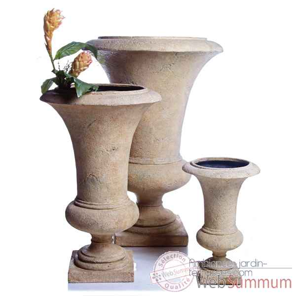 Vases-Modele Empire Urn    large, surface rouille-bs3117rst