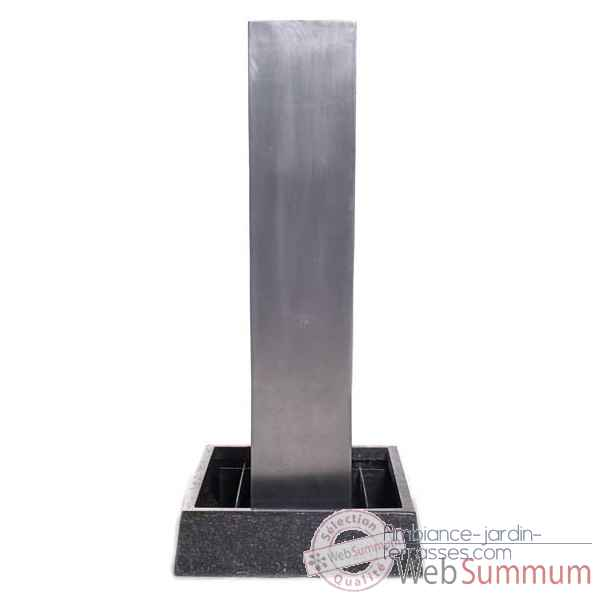 Fontaine-Modele Tower Fountain Square Basin, seulement bassin, surface aluminium-bs3129alu-basin