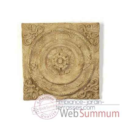 Decoration murale-Modele Rondelle Wall Plaque, surface granite-bs3166gry