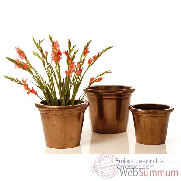 Vases-Modele Grower Pot  Medium,  surface granite-bs3173gry