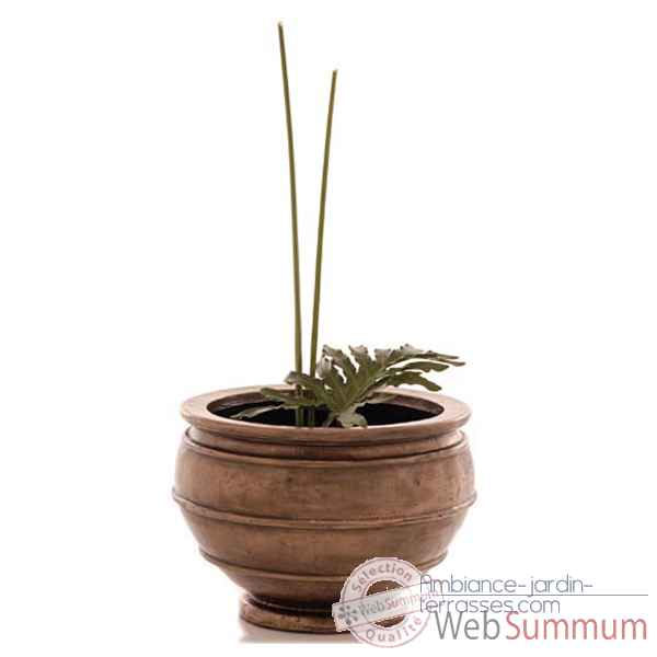 Vases-Modele Lipa Planter Junior, surface marbre vieilli-bs3214ww
