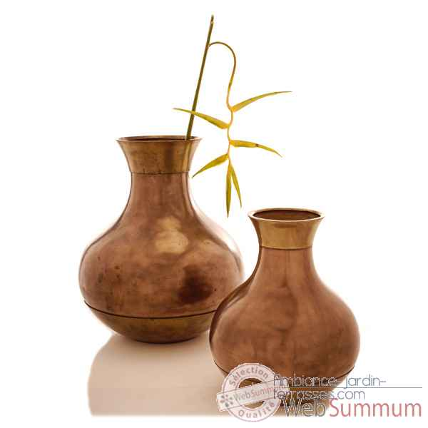 Vases-Modele Perla Jar, surface bronze nouveau-bs3261nb