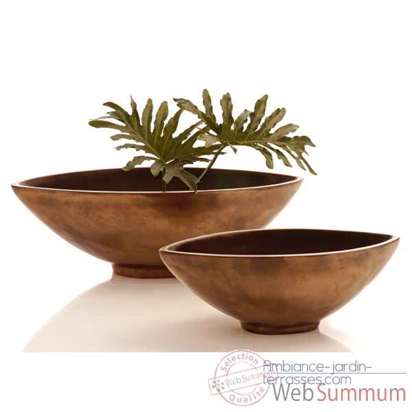 Vases-Modele Mata Bowl Small, surface aluminium-bs3265alu