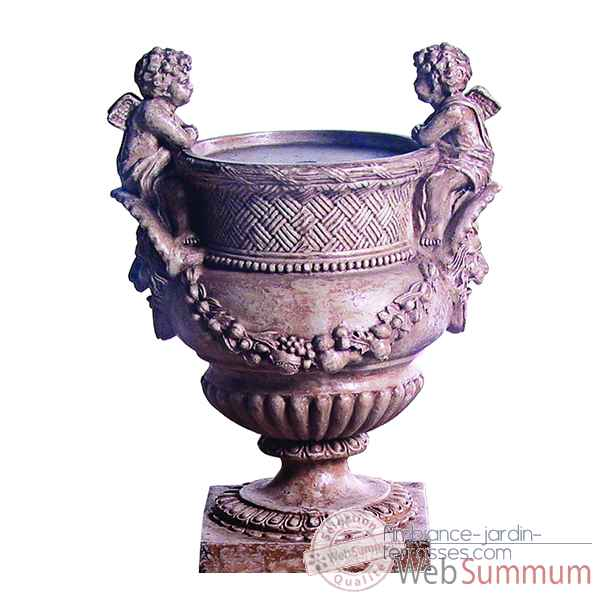 Fontaine-Modele Cherub Urn Fountainhead, surface granite-bs3299gry