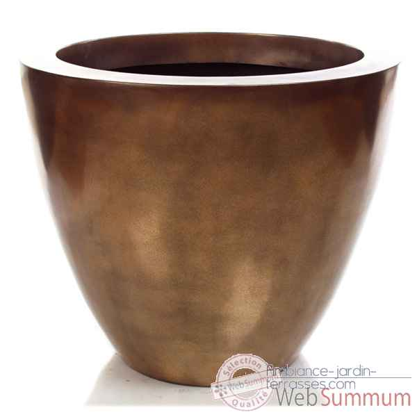 Vases-Modele Karan Planter, surface bronze nouveau-bs3325nb