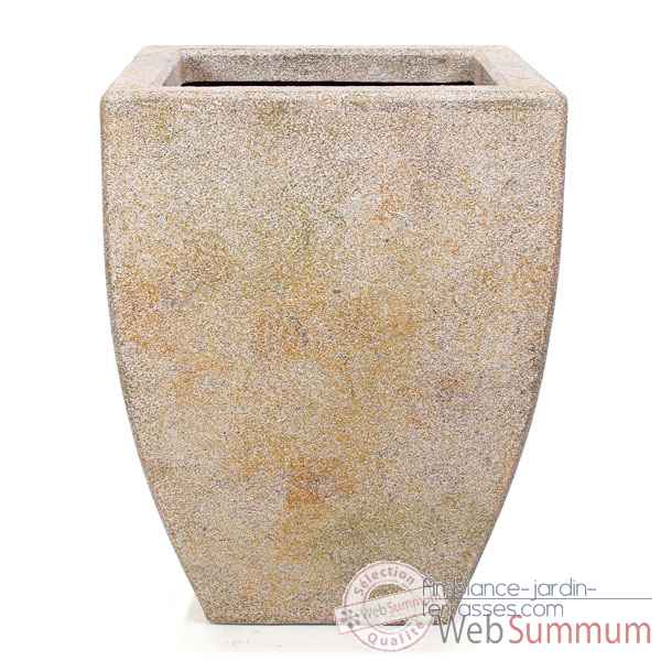 Vases-Modèle Kobe Planter,  surface granite-bs3326gry