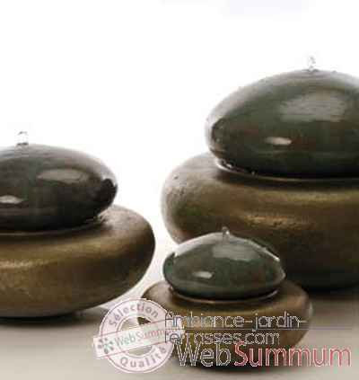 Fontaine-Modèle Heian Fountain medium, surface granite avec bronze-bs3365gry/vb