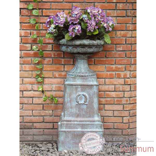 Vases-Modele Marseilles Urn,  surface granite-bs3377gry