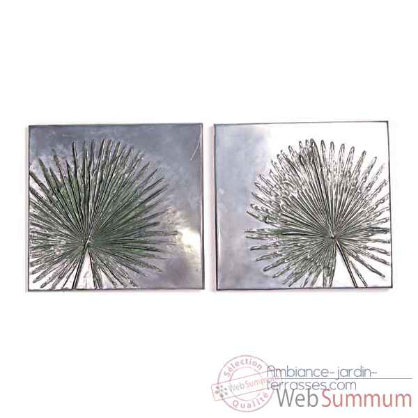 Decoration murale-Modele Anahaw Junior Wall Plaque Positive Set, surface aluminium-bs4099alu