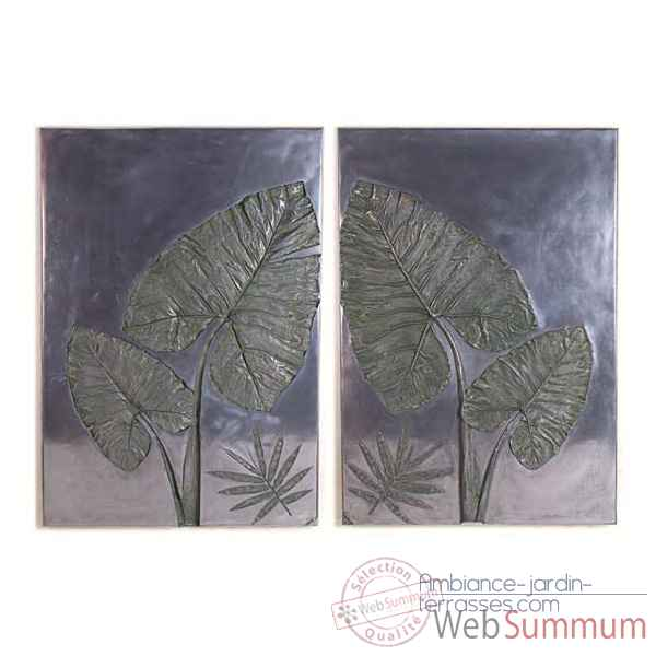 Decoration murale-Modele Taro Wall Plaque Set, surface aluminium-bs4100alu