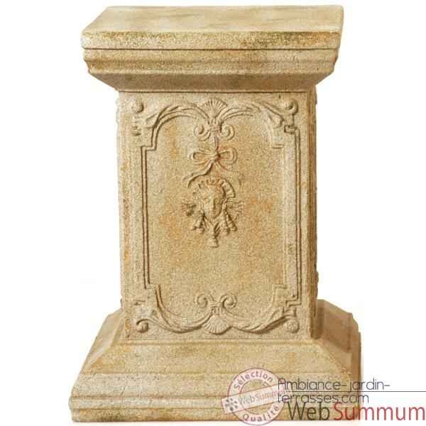 Colonne et Piedestal Queen Anne Podest, fer -bs1002iro