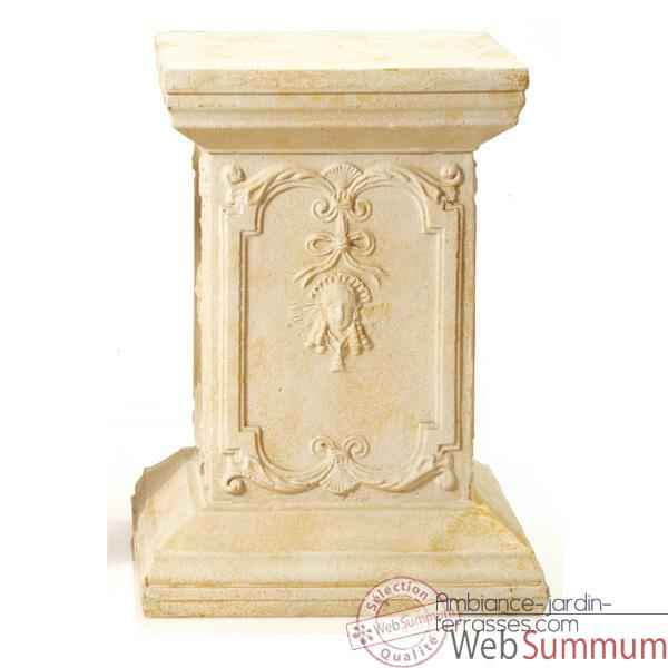 Colonne et Piedestal Queen Anne Podest, marbre vieilli combines or -bs1002wwg