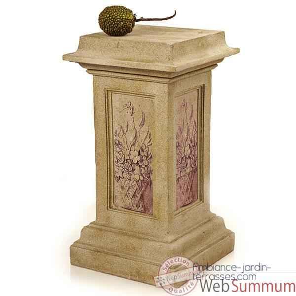 piedestal et colonne granite dans piedestale et colonne de terrasse sur ambiance jardin terrasses. Black Bedroom Furniture Sets. Home Design Ideas