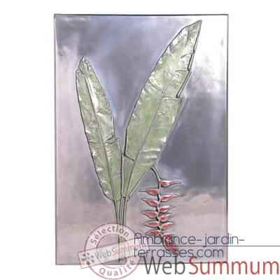 Decoration murale Hanging Heliconia Positive Wall Plaque, aluminium -bs2306alu