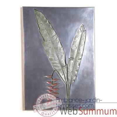 Decoration murale Hanging Heliconia Negative Wall Plaque, aluminium -bs2307alu