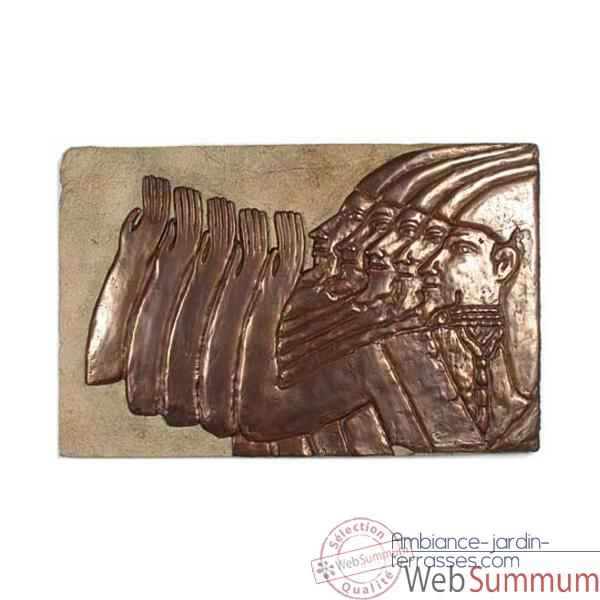 Decoration murale Mesopotamia, gres et bronze -bs2312sa -nb