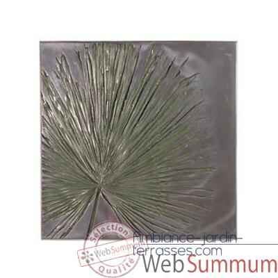 Decoration murale Anahaw Wall Plaque Medium Negative, aluminium -bs2324alu