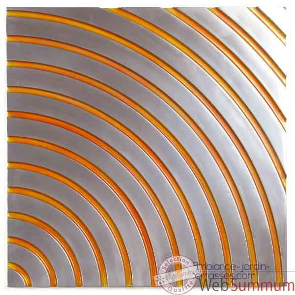 Décoration murale Concentric Wall Panel Junior, métal aluminium patiné or -bs2397alu -or