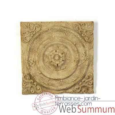 Decoration murale Rondelle Wall Plaque, bronze et vert-de-gris -bs3166vb