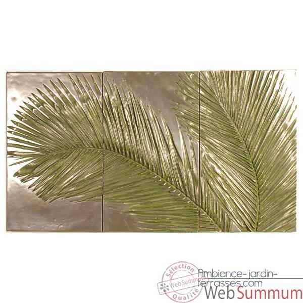 Decoration murale Palm Triptych, bronze nouveau -bs4128nb