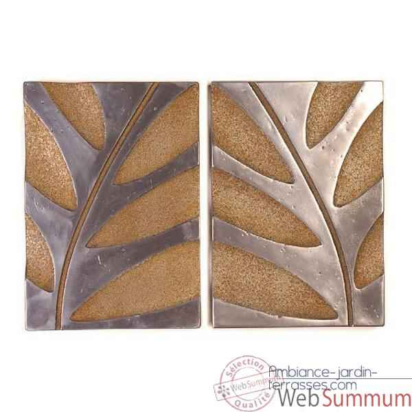 Décoration murale Foliage Wall Decor S -2, aluminium et rouille -bs4133alu -rst
