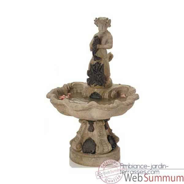 Fontaine Alsace Fountain, granite combines fer -bs3103gry -iro