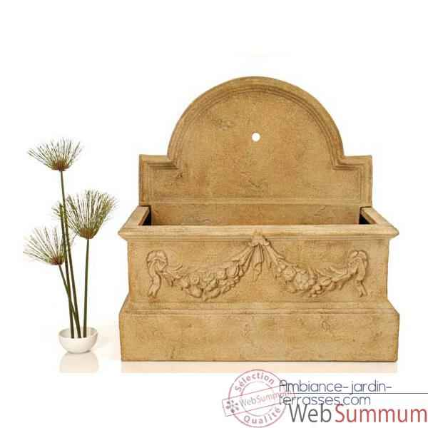 Fontaine Rialto Trough Fountain w -o Spout, granite -bs3169gry
