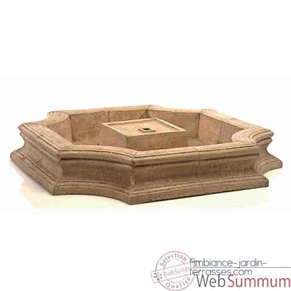 Fontaine Bath Fountain Basin, granite -bs3192gry