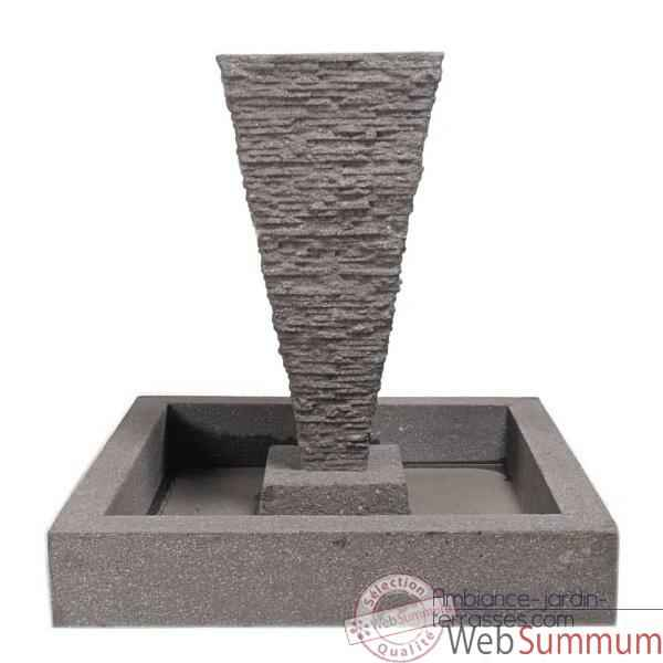Fontaine Square Basin, aluminium -bs3302alu