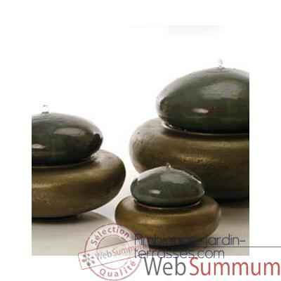 Fontaine Heian Fountain large, granite et bronze -bs3366gry -vb