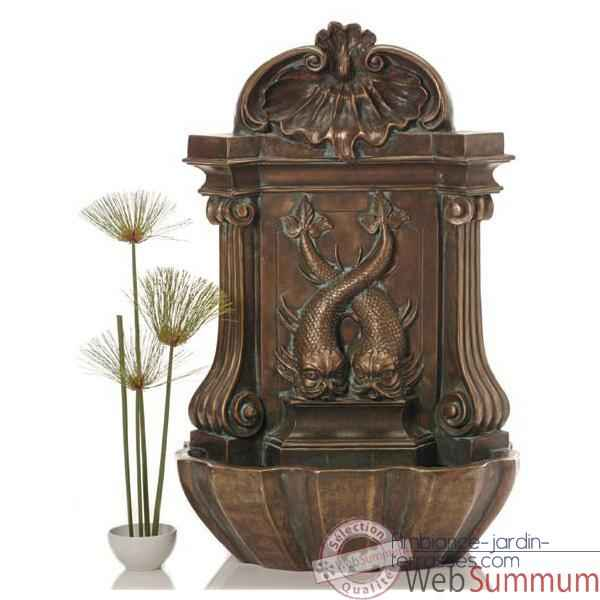 Fontaine Amadeo Wall Fountain, bronze et vert-de-gris -bs3372vb