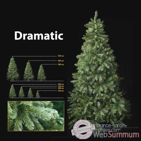 Sapin de no l 120 cm professionnel dramatic pine tree vert for Sapin artificiel professionnel