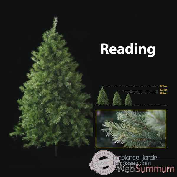 Sapin de no l 225 cm professionnel reading sapin vert dans for Sapin artificiel exterieur