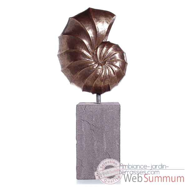 Sculpture Nautilus Giant Garden Sculpture, bronze nouveau -bs3318nb -lava